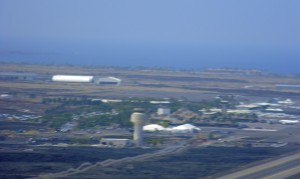 New Kona tower and the airport environs